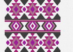 Worki mochilla i wayuu Tapestry Crochet Patterns, Bead Loom Patterns, Crochet Stitches Patterns, Crochet Chart, Beading Patterns, Cross Stitch Patterns, Knitting Patterns, Mosaic Patterns, Boho Tapestry