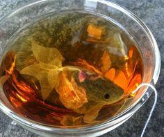 Saquinho de chá em forma de peixe