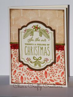 CTMH White Pines card by Char's Crafty Creations