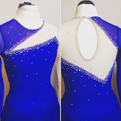 Custom Figure Skating dress in a gorgeous sapphire blue by Kelley Matthews Designs.  www.KelleyMatthewsDesigns.com for more inspiration and information.