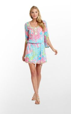 Lilly Pulitzer Summer '13- Delisa Dress in Turquoise Lets Cha Cha $248