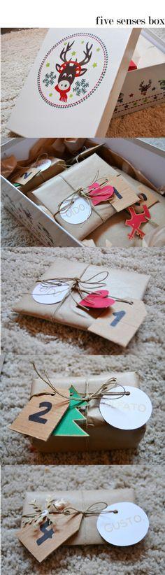 "Gift idea: The five senses box. ""I Love You with ALL my senses!"""