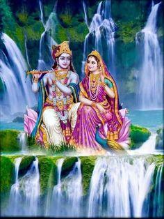 Krishna And Radha, Water Fall Hanuman Images, Lord Krishna Images, Radha Krishna Pictures, Radha Krishna Photo, Krishna Photos, Krishna Art, Hare Krishna, Radhe Krishna Wallpapers, Lord Krishna Wallpapers