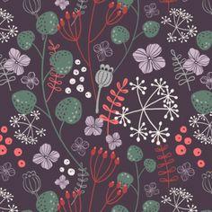 "Stoffmuster Motiv: ""Winterblumen"" (#81960) © doro_kaiser"