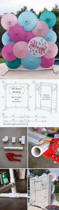 DIY backdrop frame- for photo booth or perhaps ceremony backdrop. Diy Photo Booth Backdrop, Backdrop Frame, Diy Wedding Backdrop, Wedding Decorations, Backdrop Ideas, Diy Photobooth, Booth Ideas, Photo Backdrops, Streamer Backdrop