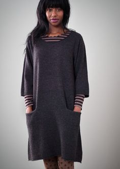 Felted wool tunic – Organic cotton knits – GUDRUN SJÖDÉN – Webshop, mail order and boutiques | Colorful clothes and home textiles in natural materials.
