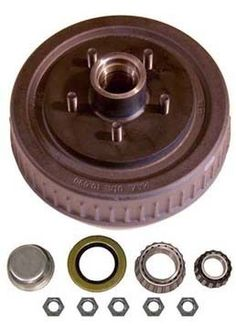 "1-555UHI-HD --- 5 on 5-1/2"""" Hub and Drum Assembly for 10"""" Brakes"