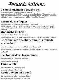 Expressions en français · French idioms. Langue cible: le français. Langue source: l'anglais
