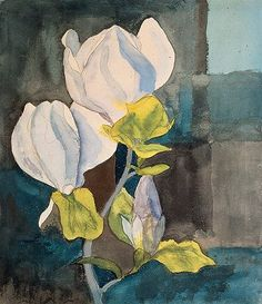 "huariqueje: "" Magnolia - Hermann Hesse 1928 German/Swiss, 1877–1962 Graphite and watercolor Fondazione Hermann Hesse Montagnola, Private Collection, """