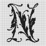 alphabet N leafy glade