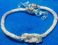 Viking double knit infinity knot bracelet