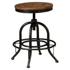Signature Design by Ashley Pinnadel Wood Backless Counter Height Stools - Set of 2 - ASHY385-1