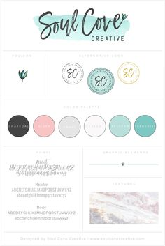 Branding Style Board for Soul Cove Creative | Get yours at www.soulcovecreative.com | Branding Style Board | Branding | Brand Inspiration | Logo Design | Logo Inspiration | Color Palette | Fonts | Brand Design Inspiration | Creative Entrepreneur | Female Entrepreneur | Small Businesses | - Tap the link now to Learn how I made it to 1 million in sales in 5 months with e-commerce! I'll give you the 3 advertising phases I did to make it for FREE!