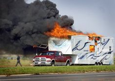 Imagine this. You're traveling to your favorite camping spot to celebrate Memorial Day. Suddenly, while rolling at 60 miles an hour, your fifth wheel bursts into flames! Don't let this happen to you. You can prevent fire in an RV. This family escaped harm, but your family could be next. Don't wait till something happens. [Continue Reading]