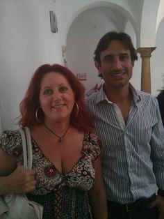 Con el profesor de la UCA, Jose Jurado, coordinador de los cursos de verano.