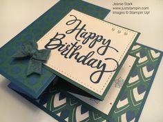 Fun fold birthday card using Eastern Palace Designer Series Paper and Stylized Birthday Stamp Set fr Birthday Card Pop Up, Homemade Birthday Cards, Birthday Fun, Birthday Images, Birthday Design, Vintage Birthday, Birthday Quotes, Birthday Wishes, Birthday Humorous