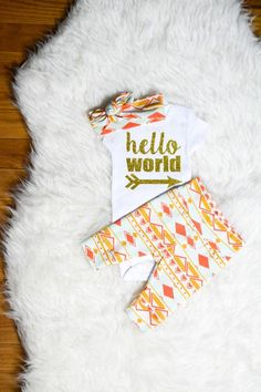 Child girl coming residence outfit  Gold Peach Mint Tribal theme good day world child bathe present new child set going house from the hospital outfit. ** Discover even more by checking out the photo