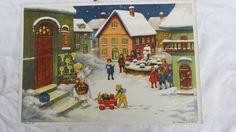 32/10/814  antiker Adventskalender Weihnachtskalender Erika Nr. 116 um 1940