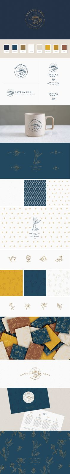 Sattwa Chai - logo & brand identity design crafted by Melissa Yeager