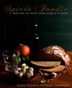 Sunday Snapshots: Quail Eggs, Persimmon, Brussels Sprouts, Bavarian Bread and Grapefruit Beer | Market Finds by Spicie Foodie