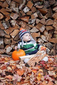 Fall Photoshoot...some by the woodpiles would be cute!