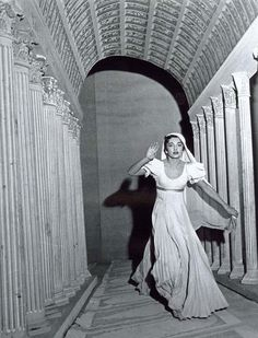 Maria Callas in La Vestale by Gaspare Spontini, Teatro alla Scala, 1954 (Visconti production)