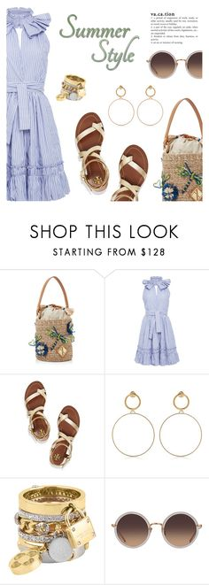 """""""Summer Style"""" by dressedbyrose ❤ liked on Polyvore featuring Aranáz, Alexis, Tory Burch, Maria Francesca Pepe, Henri Bendel and Linda Farrow"""