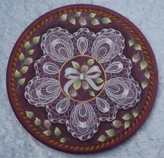 """Lorraine Morison Latest New Tole Painting Pattern Packet """"A Ring of Rosebuds"""" 