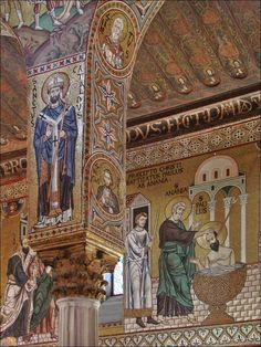 Mosaics of Palatine Chapel, Palazzo dei Normanni, Palermo, Sicily, Italy
