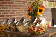 Wedding Candy Buffet. Could change candy to match color scheme.