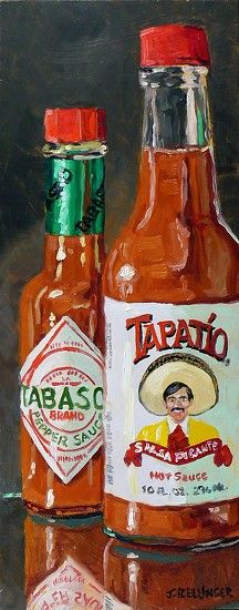 Interesting little painting of hot sauces I found in today's FASO Daily Art Show [http://dailyartshow.faso.com/dailyartshow]
