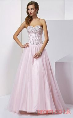 Blushing Pink Tulle Sweetheart Floor-length Princess Quincenera Dress (JT2050) 0419b085c