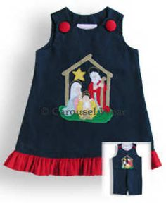 Nativity girls dress applique
