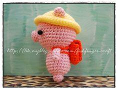 Crochet Pig Student_03 by Fish Finger Craft, via Flickr
