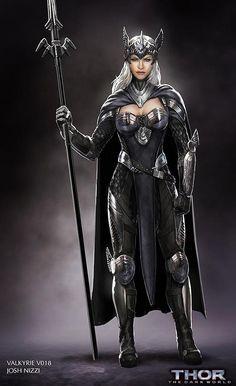 Thor: O mundo sombrio - Artes conceituais da Valquíria e mais personagens não utilizados - Legião dos Heróis