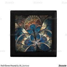 Foil Clover Fractal Small Square Tile + tileholder
