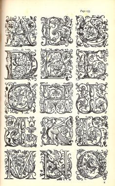 Initial Letters from the Westminster Press, London, - 1 V Alphabet, Alphabet Templates, Alphabet Charts, Hand Lettering Alphabet, Calligraphy Drawing, Calligraphy Letters, Fancy Letters, Initial Letters, Letras Tattoo