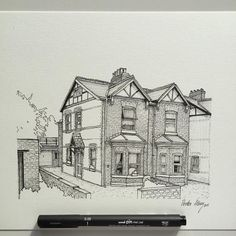 #art #drawing #pen #sketch #illustration #linedrawing #architecture #house #commission