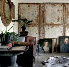 This fabulous house, I found in the Marie Claire Maison archives, ticks all the boxes for me. Wabi Sabi, Interior Exterior, Home Interior Design, Rue Verte, Wall Design, House Design, My French Country Home, Vintage Doors, Piece A Vivre