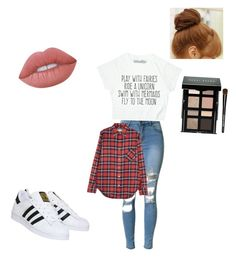 """""""Untitled #106"""" by kennyleeann ❤ liked on Polyvore featuring R13, Pin Show, Bobbi Brown Cosmetics, Lime Crime and adidas"""