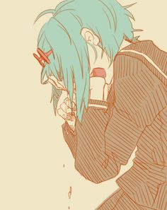 Tags:DECO*27, Vocaloid, GUMI,Yowamushi Montblanc. Art by Woka on Pixiv. Pixiv id 2154478