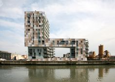 Apartment building, Ravenna harbour by Cino Zucchi Architetti