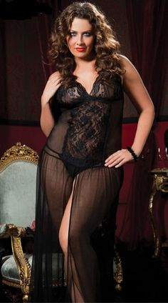 Charmeuse One Shoulder Lace Gown-X | Lingerie | Pinterest ...