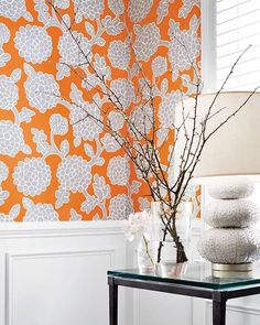 Keeping it floral this morning with Nikko resort by thibaut! Click the link in the bio for the best price per roll! #thibaut #floral #orange #sunday #sundayfunday #vibrant #flower  #interior #interiors #interiores #interior123 #interiordesign #interiordesigner #wallpaper #wallpapersales #wallcovering #decoration #decor #instalike #instagood #instadaily #lfl #fff #follow4follow #inspiration #home #instadecor #designer #instaart #weekend