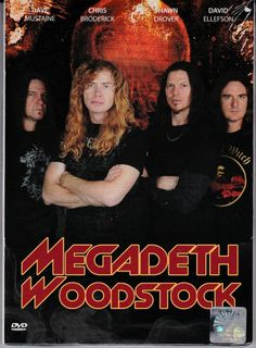 MEGADETH Live At Woodstock 1999 DVD NEW Region All NTSC PAL Free Shipping