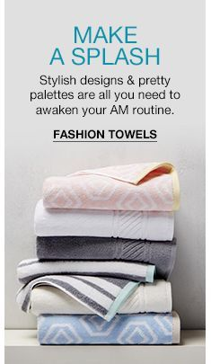 Make a Splash, Stylish designs and pretty palettes are all you need to awaken your am routine, Fashion Towels Best Bath Towels, Shower Accessories, Cool Style, Stylish, Routine, Design, Pretty, Fashion, Moda