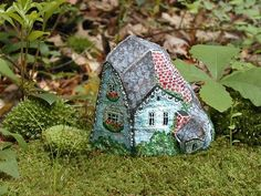 Rock Houses created in 2000 and 2001,Painted Stone Houses by Klaudia Konrad