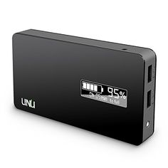 UNU Ultrapak Tour 10000mAh USB external battery pack 8X fast charging backup power charger - black color. :-)