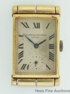 Genuine Triple Signed Vacheron Constantin Art Deco 14k Gold Mens Curved Watch #VacheronConstantin