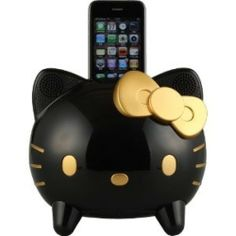 New Hello Kitty dock KT1-EB-2 speaker for iphone/ipod black Japan Free Shipping